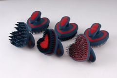 Rhinegold Soft Touch Heart Shaped Grooming Brushes Set of 3