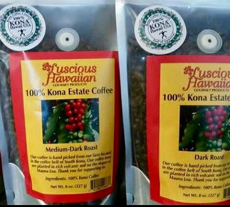 100% Kona Coffee Medium Dark Roast Whole Bean 8oz