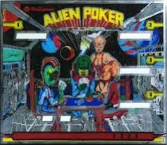 ALIEN POKER SILKSCREENED BACKGLASS