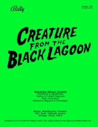 CREATURE FROM THE BLACK LAGOON MANUAL (REPRINT)