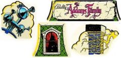 ADDAMS FAMILY CLOUD TOPPER DECAL SET OF 4