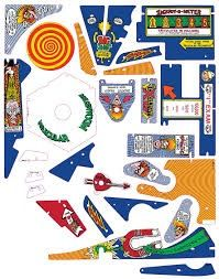 DR. DUDE SILKSCREENED PLAYFIELD PLASTIC SET - 26 PCS