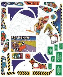 ROAD SHOW SILKSCREENED PLAYFIELD PLASTIC SET