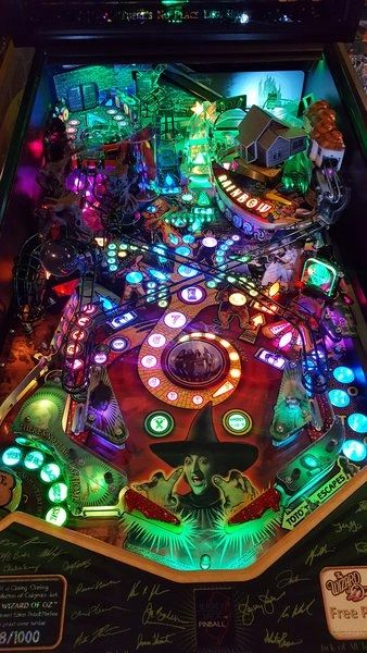 Wizard of Oz Pinball LED Strip Backboard and Trough Light Set Kit