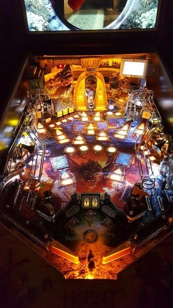 The Hobbit Pinball LED Strip Backboard and Trough Light Set Kit GOLD
