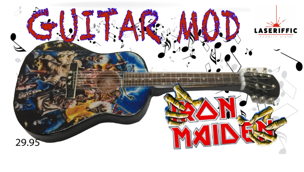 IRON MAIDEN ACOUSTIC GUITAR MOD
