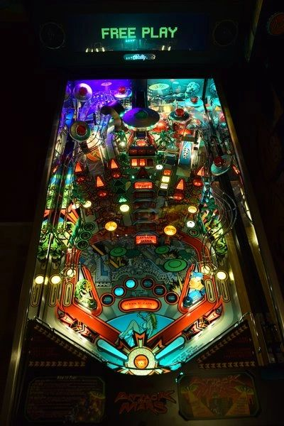Attack From Mars REMAKE Pinball LED Strip Backboard and Trough Light Combo Kit