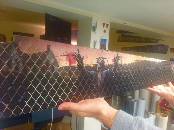 The Walking Dead LE Pinblades on chrome mirror blades