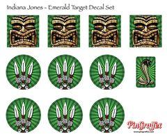 Indiana Jones Target Decal Set