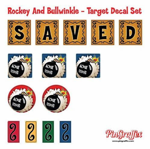 Rocky And Bullwinkle Target Decal Set