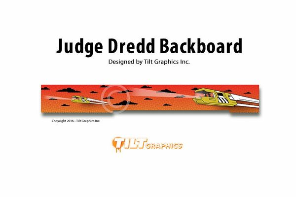JUDGE DREDD BACKBOARD