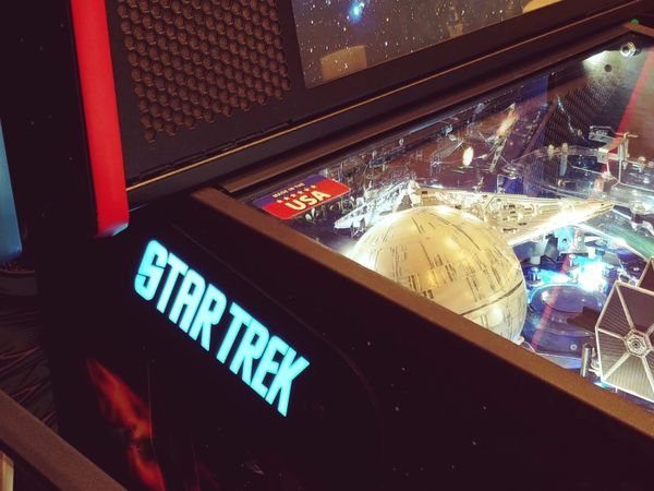 STERN STAR TREK LIGHT BLUE LIGHTED MAGNETIC HINGE COVERS