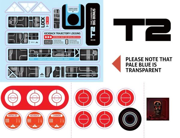 T2 target and metal guide decal set