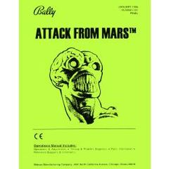ATTACK FROM MARS PINBALL MANUAL (REPRINT)