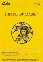 THEATRE OF MAGIC PINBALL MANUAL (REPRINT)
