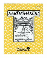 EARTHSHAKER PINBALL MANUAL (REPRINT)