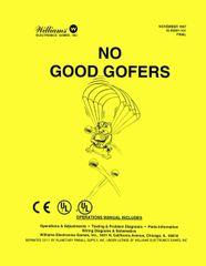 NO GOOD GOFERS PINBALL MANUAL (REPRINT)