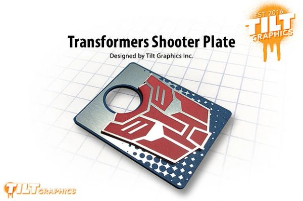 Transformers 3D Shooter Plate