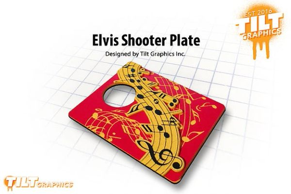 Elvis 3D Shooter Plate