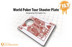 "World Poker Tour ""King of Harts"" Shooter Plate"