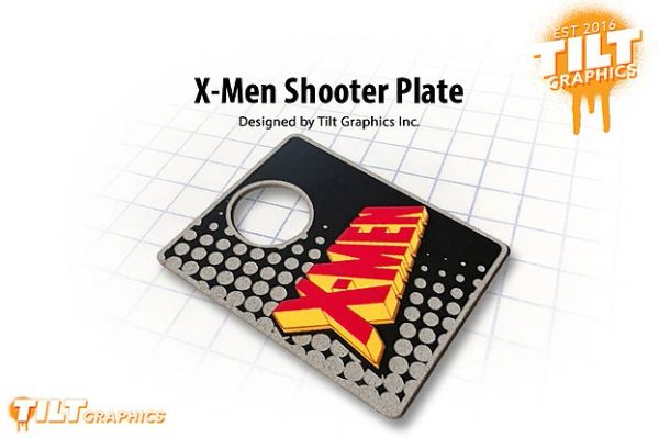X-Men 3D Shooter Plate