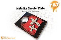 Metallica 3D Shooter Plate