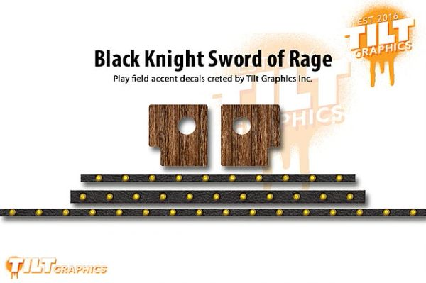 Black Knight Sword of Rage: Playfield Accent Decals