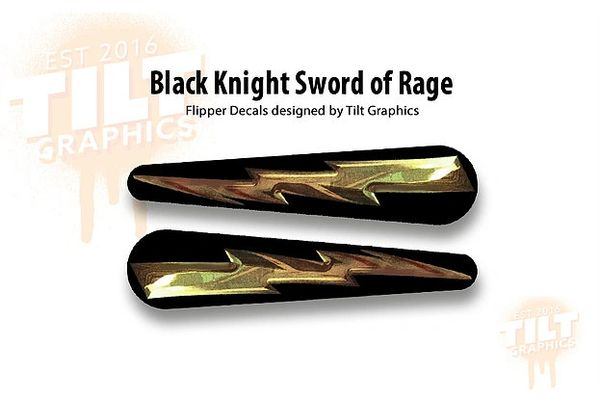 Black Knight Sword of Rage Flipper Bat Decals