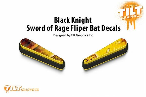 Black Knight Sword of Rage: Coins Flipper Bat Decals