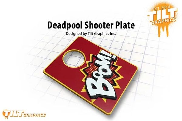 "Deadpool 3D ""Boom"" Shooter Plate"