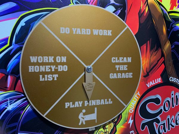 PINBALL OR CHORE WHEEL