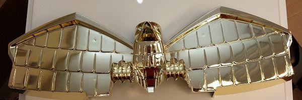 JUDGE DREDD EAGLE TOPPER - BRITE GOLD PLASTIC