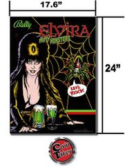 ELVIRA AND THE PARTY MONSTERS FRAMED BANNER