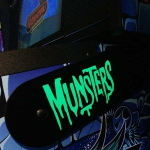 THE MUNSTERS GREEN LIGHTED HINGE COVERS