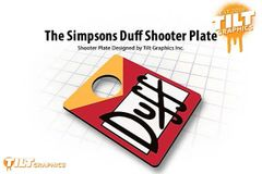 The Simpsons: Duff Shooter Plate