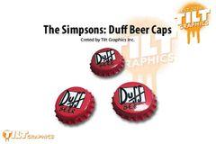 Simpsons Duff Beer Caps