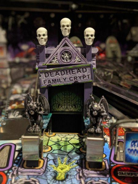 Elvira's House of Horrors Pinball Crypt Sign