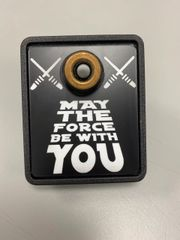 """Star Wars """"May The Force Be With You"""" Shooter Plate"""