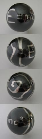 E=MC2 Swirl Black Pearl Pinball