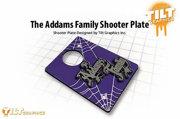 The Addams Family 3D Shooter Plate