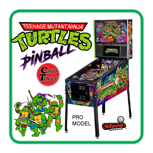 TMNT Teenage Mutant Ninja Turtles Stern PRO PINBALL