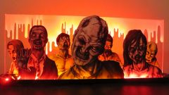 The Walking Dead Zombie Horde Pinball Machine Topper