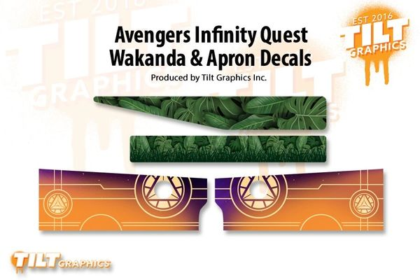 Avengers Infinity Quest Wakanda and Apron Decal Bundle