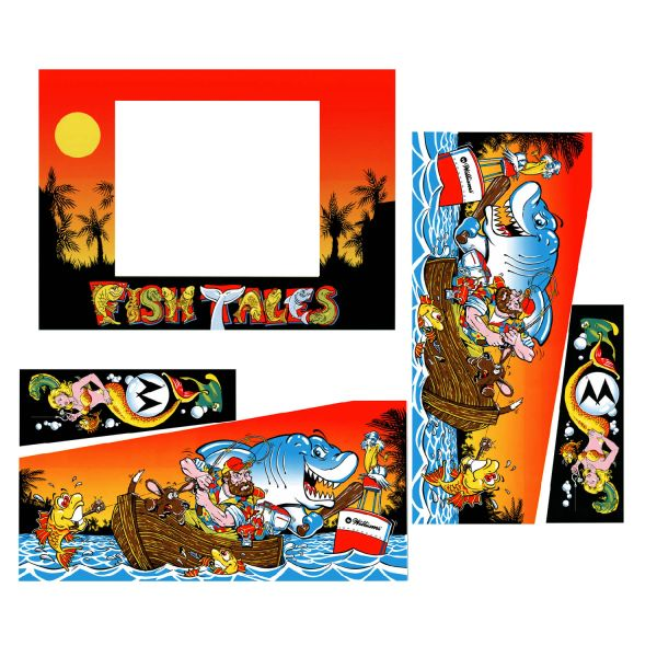 FISH TALES CABINET DECALS