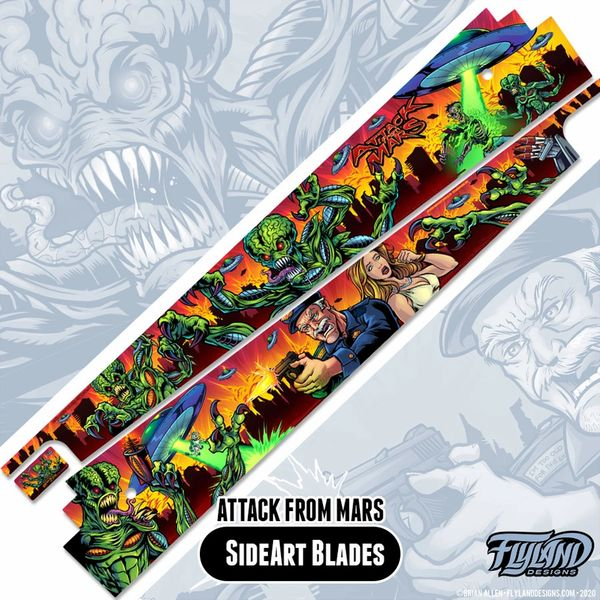 Attack From Mars Art Blades by Flyland Designs