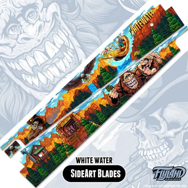 White Water Side Art Blades by Flyland Designs