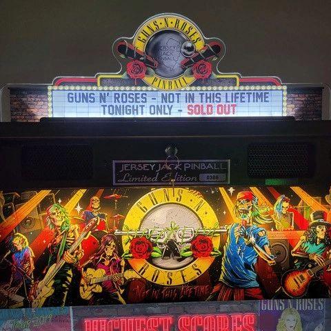 Jersey Jack Guns 'N Roses Pinball Topper (NOT SHIPPING UNTIL AUGUST)