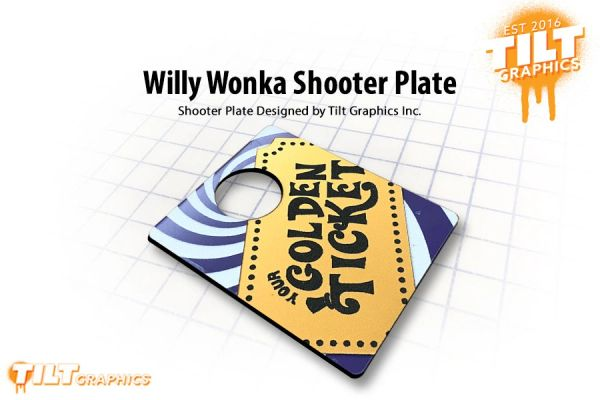 Willy Wonka Golden Ticket Shooter Plate