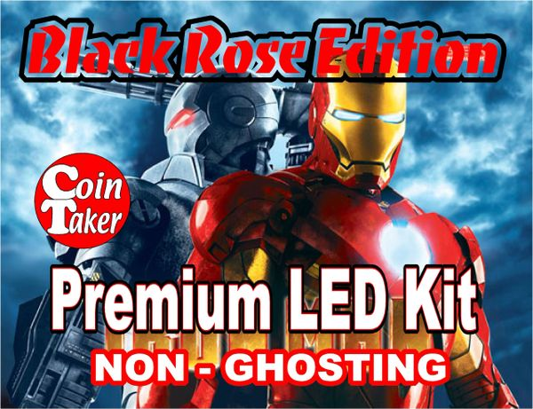 IRON MAN-4 LED Kit w Premium Non-Ghosting LEDs (BLACK ROSE EDITION)