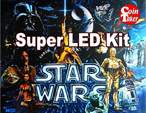 2. STAR WARS Data East 1992 LED Kit w Super LEDs